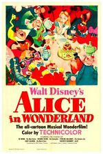 "DISNEY MOVIE POSTER -ALICE IN WONDERLAND 8.5"" x 11"""
