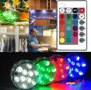 RGB LED Unterbau-Leuchten Schrank-Licht Küchen-Lampe flach Aufputz-Strahler Spot