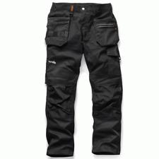 Scruffs Trade Flex Slim Fit Work Trousers Black Men's FREE BEANIE (ALL SIZES)