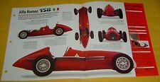 1951 Alfa Romeo Race Car 158/159 I8 1479cc 425 hp S/C IMP info/Specs/photo 15x9