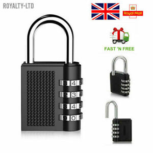 4 Digit Number Code Lock Combination Padlock Travel Luggage Gym Toolbox Cabin
