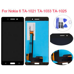 Full LCD Display Touch Screen Digitizer Replacement For Nokia 6 TA-1021 TA-1033