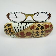 Beautiful Cheetah Readers in +1.00 Small Cat Eye Sunglasses With Matching Case