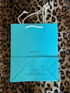 Brand new Tiffany gift bag 8 inches x 9 3/4 inches. Perfect condition