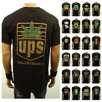 Men Funny Graphic T-Shirt Weed Marijuana Cannabis Pot Fashion Casual Hipster Tee