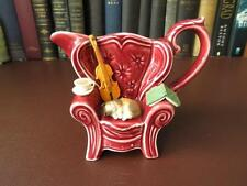 Vintage Park Rose, Bridlington Pottery Collector Jug- Cat On Queen Anne Chair