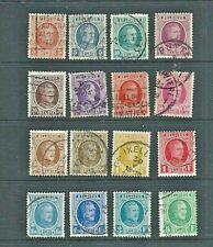 BELGIUM - 1922 - ALBERT DEFINITIVES Part Set - 16 Stamps ( 3c. - 5F) - Fine used
