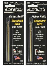 Two Paper Mate Style Pressurized Black Ink Medium Point Cartridges By Fisher