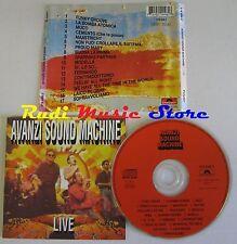 CD AVANZI SOUND MACHINE LIVE POLYDOR 1993 FRANCE NO lp mc dvd