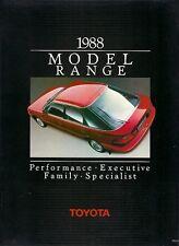 Toyota Starlet Corolla MR2 Carina Celica Camry Supra 1988-89 UK Market Brochure