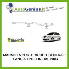 MARMITTA SILENZIATORE POSTERIORE + CENTRALE LANCIA YPSILON 1.2 DAL 2003