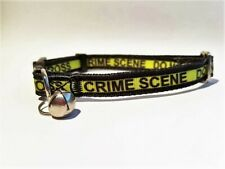 Crime Scene Cat Safety Breakaway Collar with Removable Bell