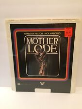 MOTHER LODE CED Video Disc Movie Charlton Heston Kim Basinger John Marley New