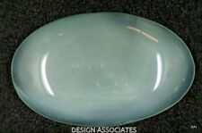 AQUAMARINE CABOCHON OVAL CUT 55 CARATS OUTSTANDING BLUE COLOR ALL NATURAL