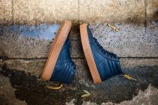 Vans Sk8 Hi Zip Mens Size 9 Hiking Navy Gum OTW Premium Leather Skate Shoe