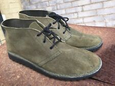 Vintage Original 1992 Airwalk Desert Boots Olive Green Mens Size 12 RARE