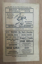 .1938/39 BOLTON WANDERERS v  LIVERPOOL ( very rare)