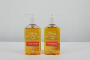 2 pack NEUTROGENA OIL-FREE ACNE WASH 6 OZ Expire 02/2022+
