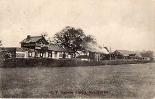C V RAILWAY STATION BALLYGAWLEY TYRONE IRELAND POSTCARD M J MARTIN POSTED 1906