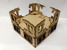 TTCombat - Sci Fi Scenics - Gothic Building with Ruined parts - Great for 40k