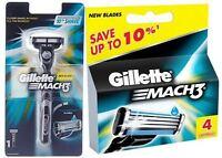 Gillette Mach3 Super Saver Griff +1 Patronen + 4 Patronen Kostenloser Versand