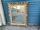 Large Baroque Gold Wall Mirror 47x37 with carved ocean waves and seashells
