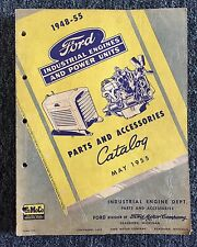 Vintage 1955 FORD Auto Car Parts And Accessories Engines & Power Units Catalog