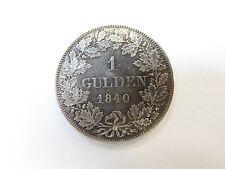 1 Gulden 1840 GERMAN STATES Ludwig II Grosherzog Von Hessen Rare ! XF