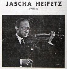 1953 Jewish HEIFETZ Concert PHOTO PROGRAM Violin BACH Scriabin MOZART Prokofieff