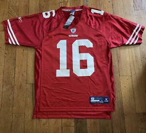 Rare Vintage San Francisco 49ers Joe Montana Reebok Throw Back Jersey NWT