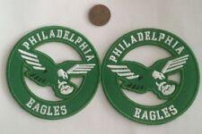 "(2)-Philadelphia Eagles vintage embroidered iron on logo patches 3x3"" Hi Quality"