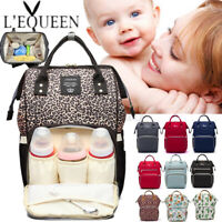 LEQUEEN Mummy Maternity Baby Nappy Diaper Bag Nursing Handbag Travel