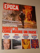 EPOCA=1978/1463=BEIRUT=GAIA SERVADIO=THE WIZ FILM=BRIGATE ROSSE=RICHARD AVEDON=