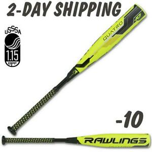 "2018 Rawlings Quatro USSSA Senior 27""/17 oz Baseball Bat 2¾""-UT8Q34-*2-DAY SHIP*"