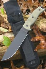 Couteau de Survie ONTARIO RAT-7 Acier Carbone 1095 Manche Green Made USA ON8692