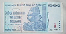 100 Trillion Dollar Bill Note 2008 Zimbabwe Hyperinflation Currency Uncirculated