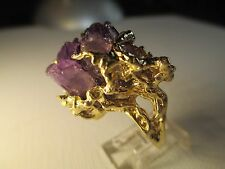 1970's Amethyst Crystal Estate Jewelry Ring