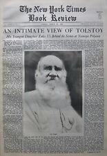 THE TRAGEDY OF TOLSTOY - LEO -YASNAYA POLYANA 1933 March 26 NY Times Book Review
