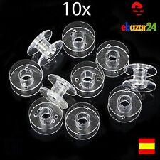 10x Bobinas de hilo para maquina de coser Bobina hilos Singer Brother Janome *En