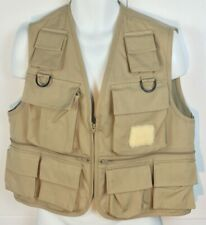 Field & Stream Fly Fishing Vest Size Medium KHAKI Beige Multi Pockets