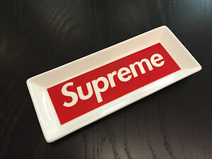 Supreme Ceramic Tray White Red Box Logo 2014 ASHTRAY