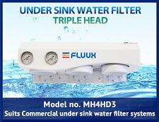 Triple head -Commercial under sink water filter