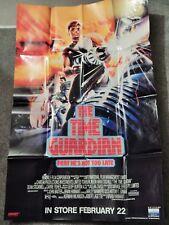 TIME GUARDIAN (VIDEO DEALER 40  X 27  POSTER!, 1990S)  TOM BURLINSON,NIKKI COGHL