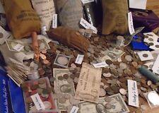 ESTATE LOT COINS RARE  - 75 PCS., GOLD(2X) & SILVER ,STAMPS ,GEMS, COINS, BILLS