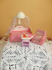 Fisher Price Loving Family dollhouse canopy day bed nightstand chair bedroom
