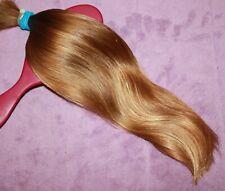 HUMAN HAIR HAIRCUT 14IN 2.3oz BABYFINE DARK WAVY WARM GOLDEN BLONDE PONYTAIL F92