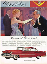 Vintage 1955 Magazine Ad For Cadillac Where It is Seen & Driven Its The Favorite