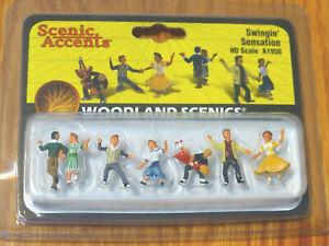 Woodland Scenics #1950 ( Swingin' Sensation ) HO Scale Figures 1:87 Scale