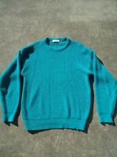 Modz Women's Heavy Knit Pull Over Green Sweater Crew Neck Size XL