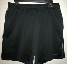 Men's Size M Medium Black Reebok Polyester Athletic Shorts.          E9